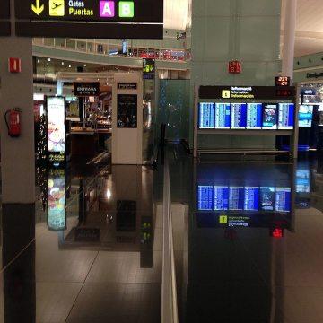 Airport floor expansion joints in El Prat, Barcelona
