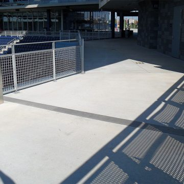 soccer stadium expansion joints SJS by EMSEAL