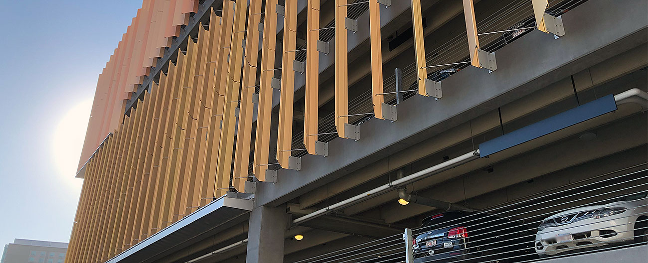 Parking expansion joints by Emseal at South Boston Waterfront Transpiration Center
