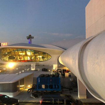 Skybridge expansion joints from JFK terminal to TWA Hotel sealed with Emseal
