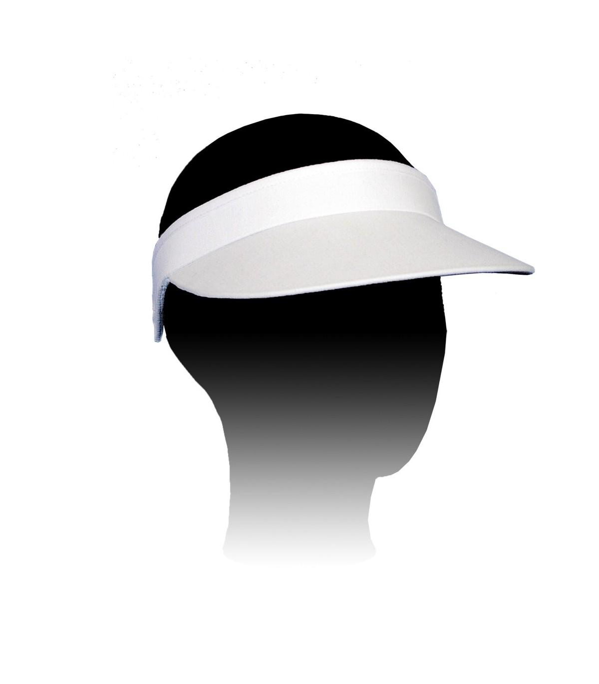 white sun visor adjustable