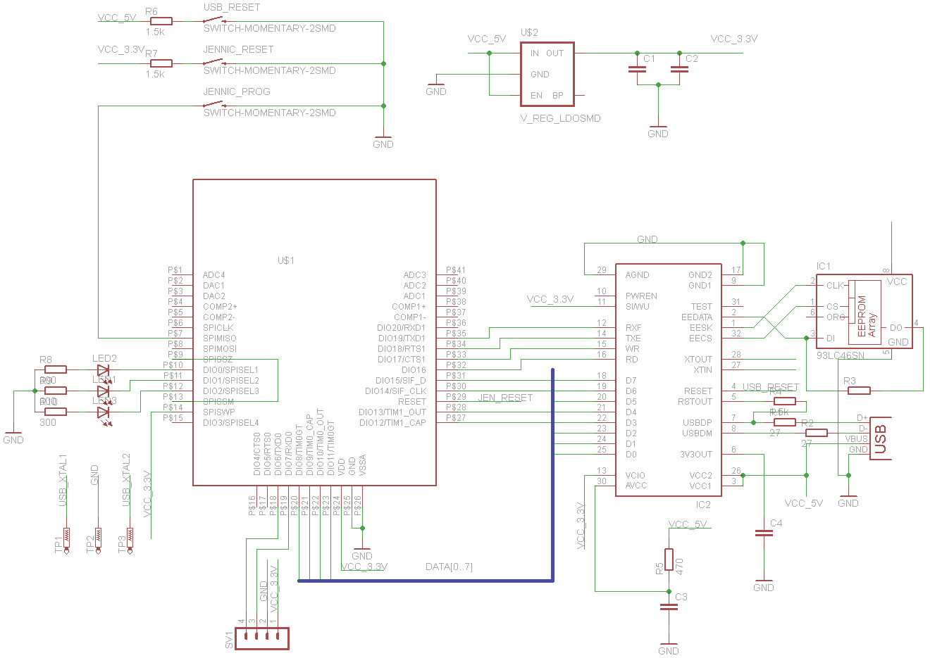 hight resolution of jennic usb schematic