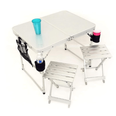 foldable camping table and chairs