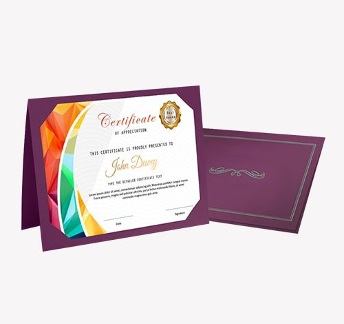 Custom certificate holders