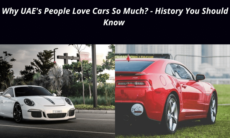 Why UAE's People Love Cars So Much - History You Should Know