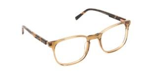 Translucent Brown Havana & Tortoise Large Square Glasses