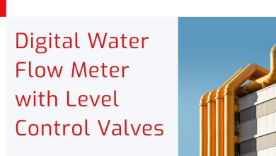 Photo of Digital Water Flow Meter with Level Control Valves