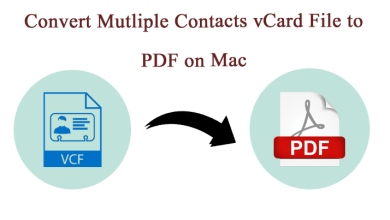 Photo of Convert vCard/VCF Contacts to PDF Format on Mac OS