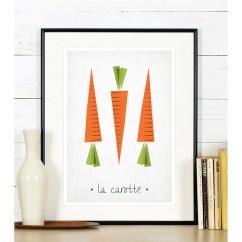 Kitchen Art Gift Baskets Print Carrots Emu Gallery Home Interiors