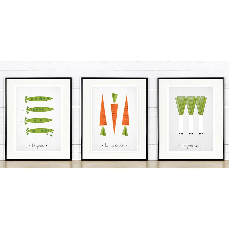 kitchen art prints axor faucet print leeks peas carrots emu gallery