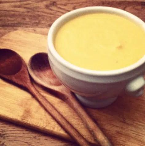 Crema de coliflor con queso