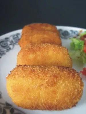Croquetas de arroz con queso. Sencillamente deliciosas.