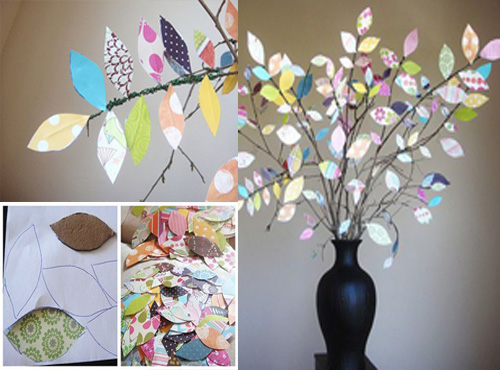 Decoración de un jarrón con alambre y papel de colores