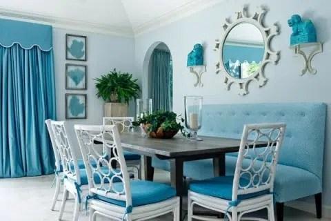 Decoración en tonos azules, un ambiente relajante y fresco