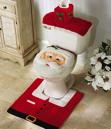 Decorar cuarto de baño durante la navidad