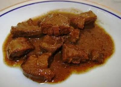 guiso de carne de jabal