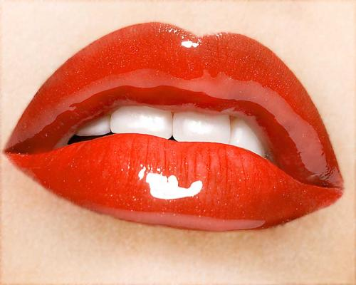 Labios sensuales y jóvenes