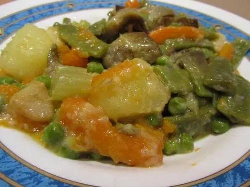 Menestra de verduras con vino fino