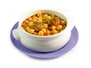 Potaje ligero de garbanzos y verduras