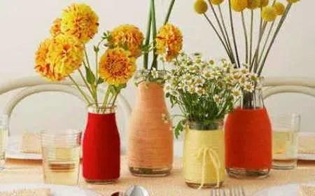 Reutiliza tus viejas botellas de cristal con hilo