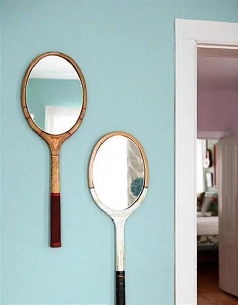 Un espejo dentro de una raqueta