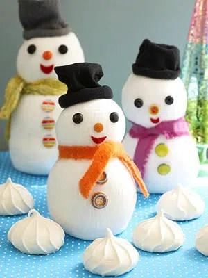 Un simpático muñeco de nieve para nuestro árbol de Navidad