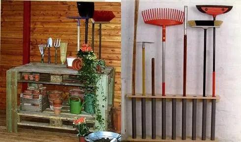 Una manera pr ctica de organizar nuestros utensilios de for Utensilios de jardineria