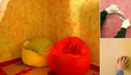 Una técnica rápida y atractiva para tus paredes: pintura con esponja