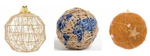 Unas bonitas bolas hechas con cuerdas