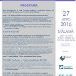 Programa de la Jornada sobre actualización en Urbanismo y Vivienda.