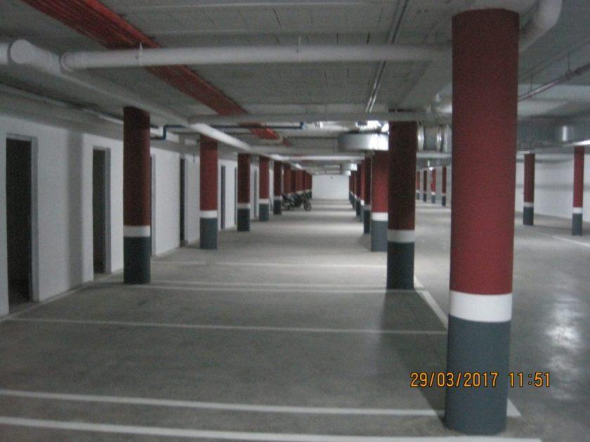 Garaje tras la intervención de Emvisesa.