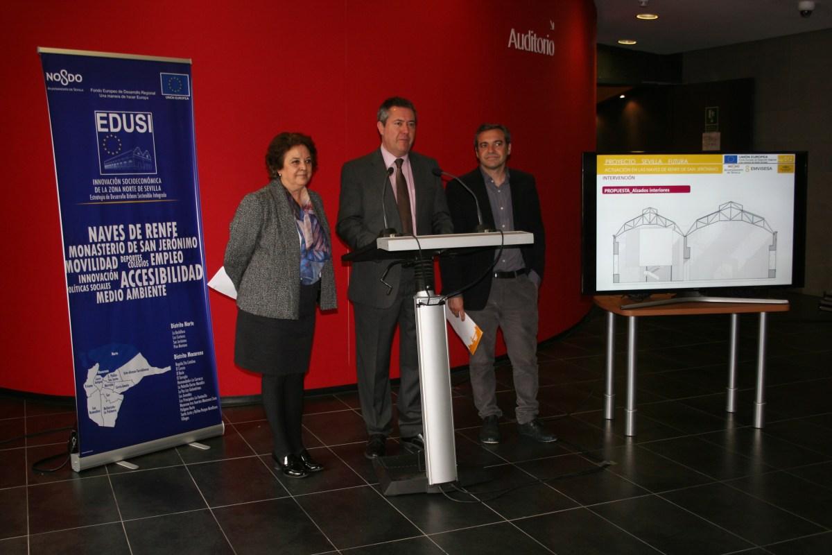 Presentación de Sevilla Futura. Naves de RENFE.