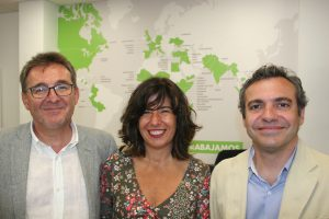De izquierda a derecha, David Pino, Isabel Soto y Felipe Castro.