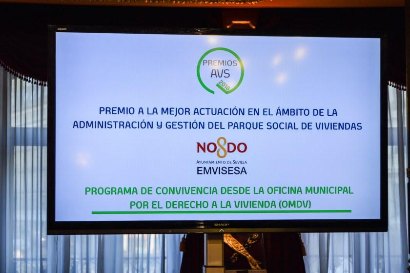 """""""Premio a la mejor actuación en el ámbito de la administración y gestión del parque social de viviendas""""."""