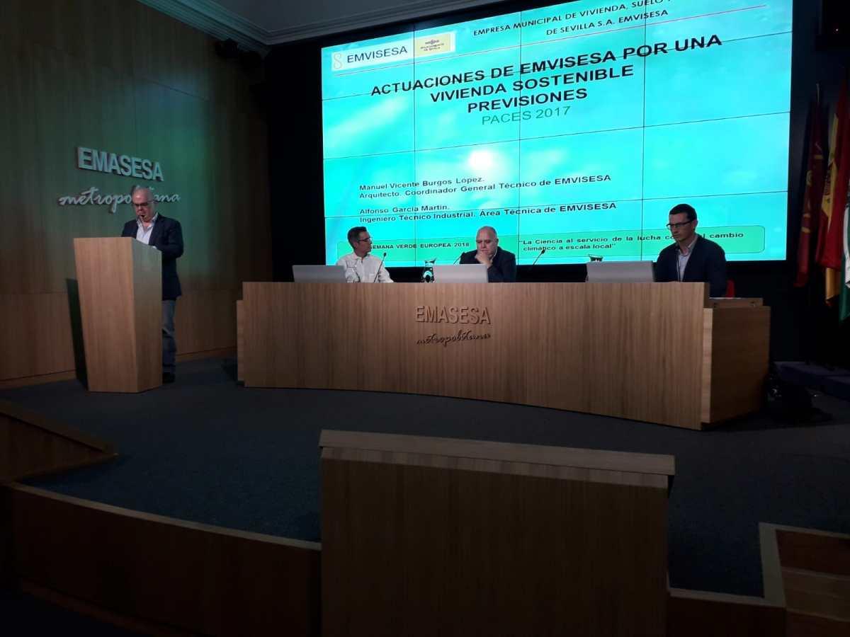 Emvisesa expone su política en materia de eficiencia energética en la Semana Verde Europea.