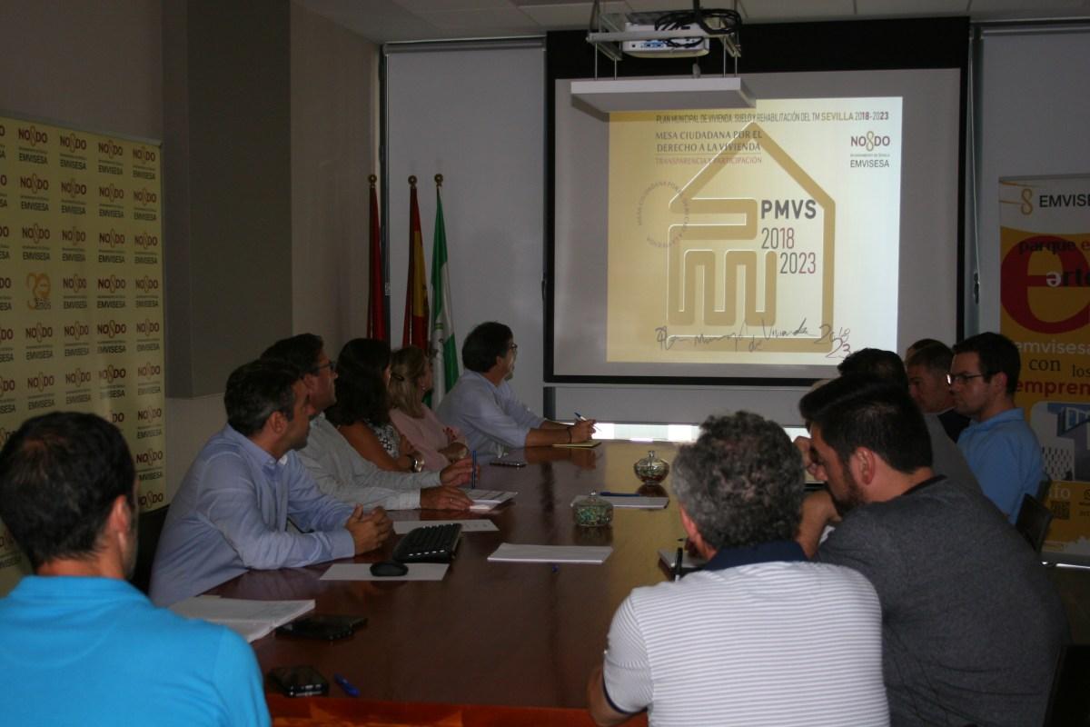 """El Ayuntamiento de Sevilla, a través de Emvisesa, continúa presentando el Plan Municipal de Vivienda en el marco del """"Programa de mejora de la transparencia y fomento de la participación ciudadana"""""""