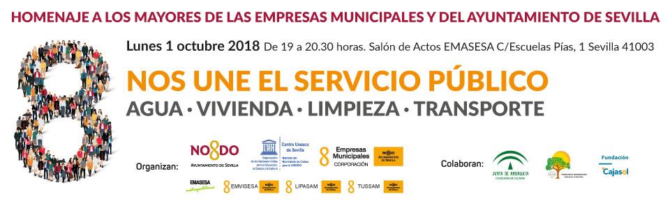 Nos une el Servicio Público: El Ayuntamiento de Sevilla homenajeará en acto público a sus trabajadores jubilados el Día Internacional de las Personas de Edad
