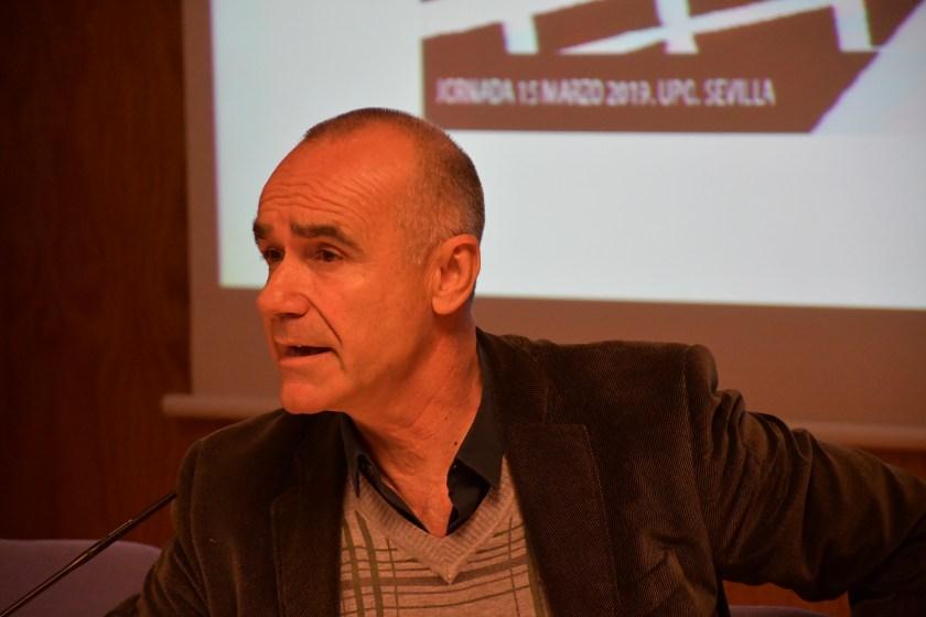 Antonio Muñoz en un momento de su intervención.