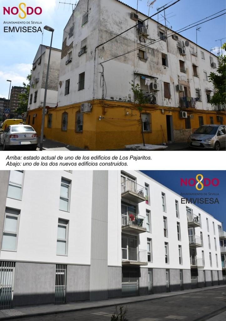 Dos nuevos edificios de 31 viviendas cada uno se han construido en el lugar que ocupaban otros dos con malas condiciones de conservación y accesibilidad.