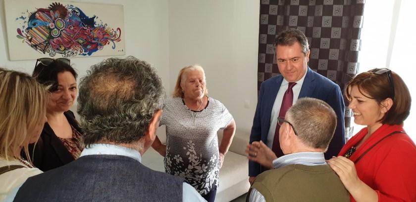 Juan Espadas visita Los Pajaritos.