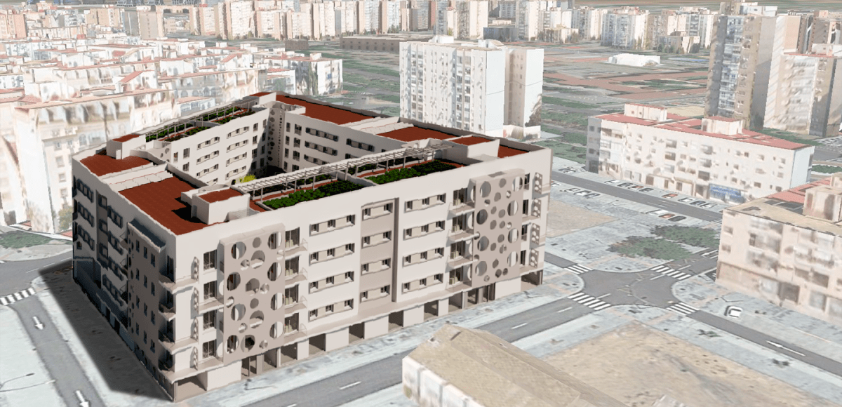 El nuevo barrio de Cisneo  Alto, donde Emvisesa está promoviendo la construcción de 83 nuevas viviendas protegidas, cuenta ya con la superficie comercial prevista en el marco de su desarrollo urbanístico