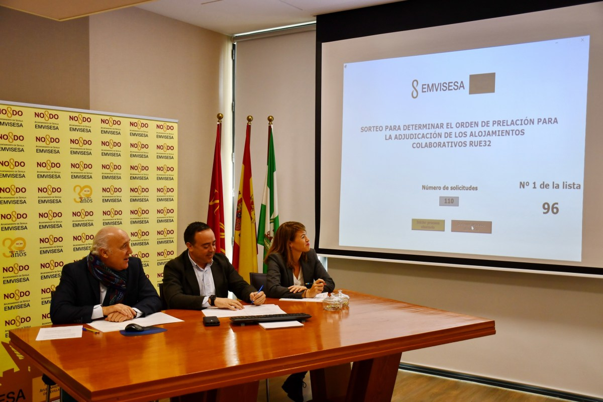 Emvisesa publica las listas de solicitantes ordenadas por sorteo ante notario para acceder a los alojamientos colaborativos RUE32