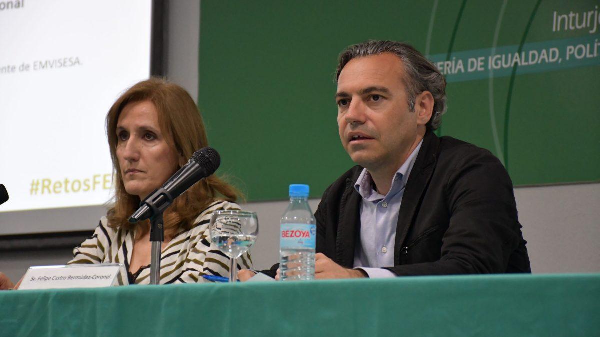 Felipe Castro, director gerente de Emvisesa, en las Jornadas de la Federación de Entidades con Proyectos y Pisos Asistidos (FEPA)
