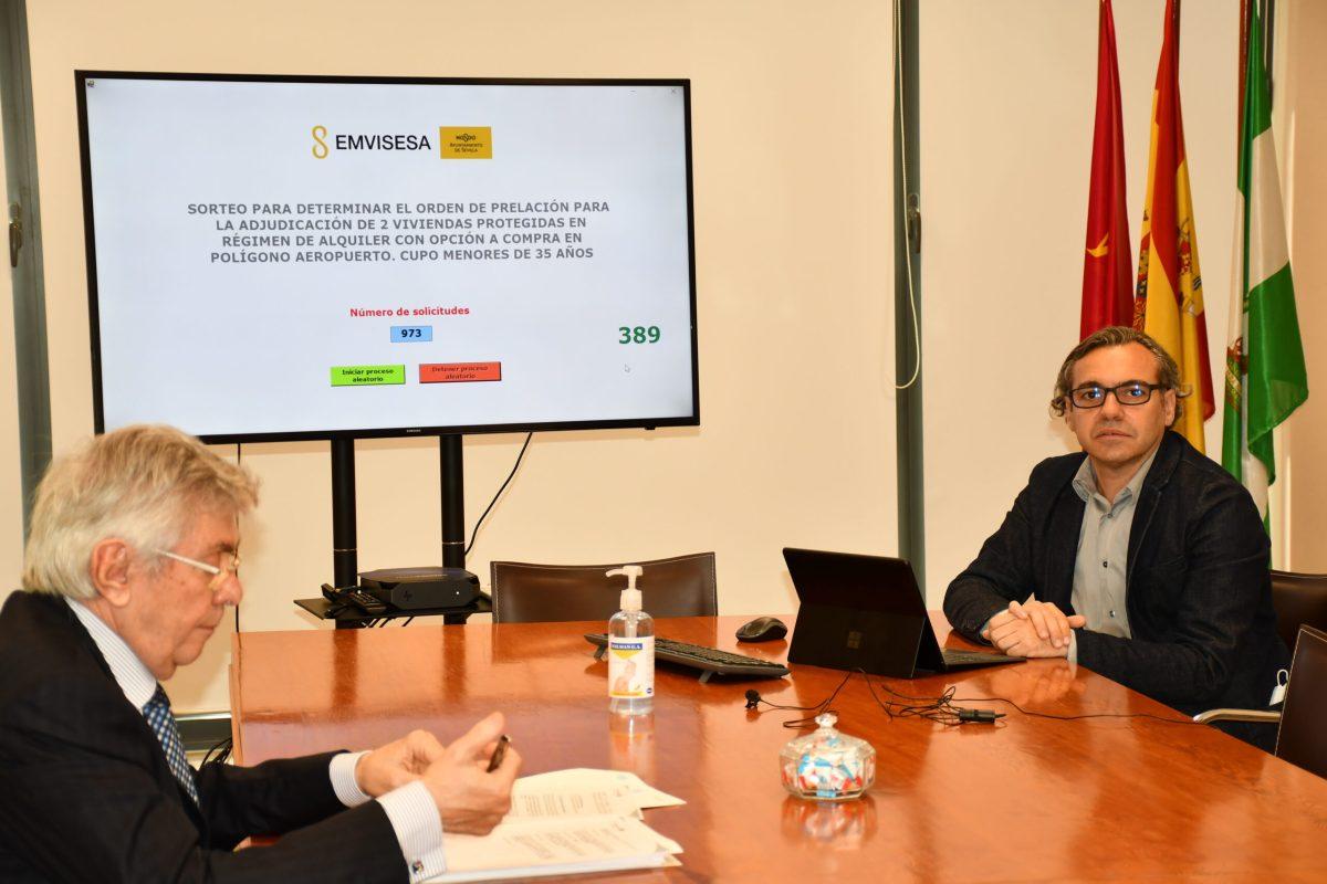 Resultado de los sorteos para adjudicar 21 viviendas de Emvisesa en régimen de alquiler con opción a compra en Torrelaguna, Pino Montano y Polígono Aeropuerto