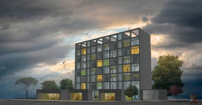 Proyecto presentado a concurso para promover viviendas asequibles en Su Eminencia