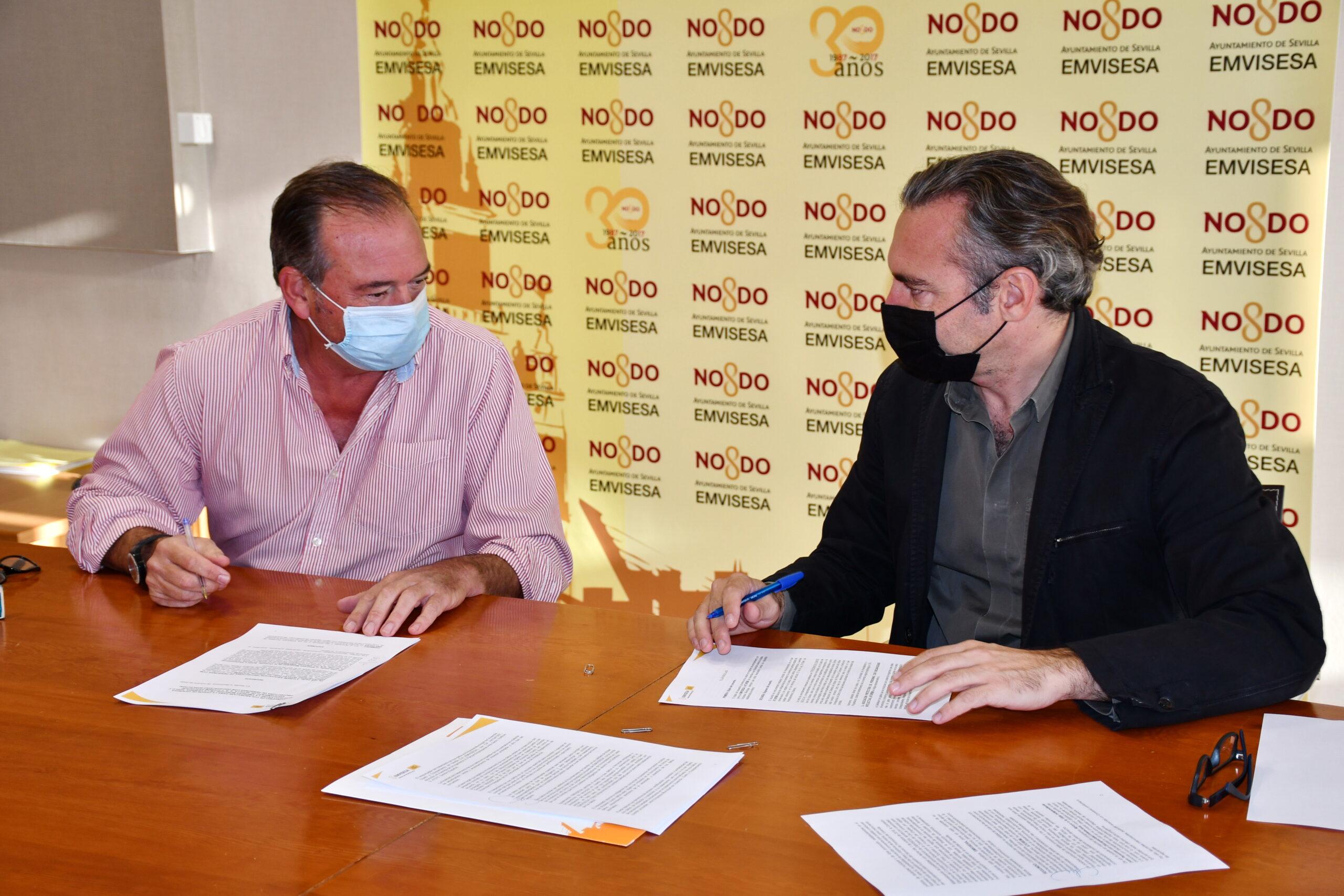 El Ayuntamiento suscribe un convenio con Aturem que permite la cesión de viviendas de Emvisesa para el desarrollo de programas de inclusión social de personas con discapacidad intelectual