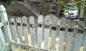 フェンスをばらす