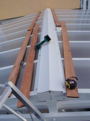 屋根カバー取付