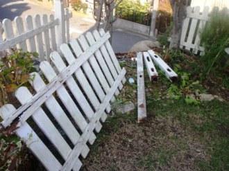 フェンスの補修