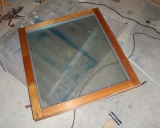 窓修理完成
